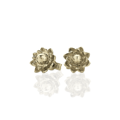 Protea Stud Earrings | 9ct Yellow Gold