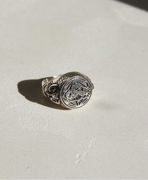 Andrew McLeod Ram Ring Oxidized | Sterling Silver