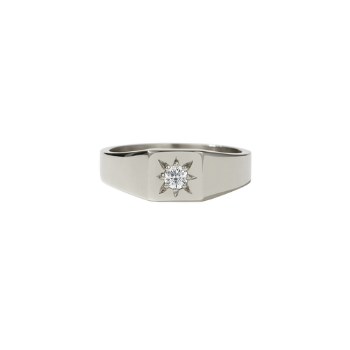 Remy Signet Ring | 14ct White Gold
