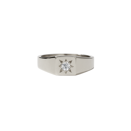 Remy Signet Ring | 9ct White Gold