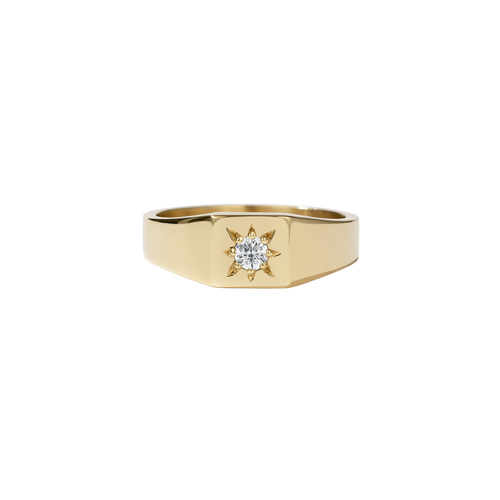 Remy Signet Ring | 9ct Yellow Gold