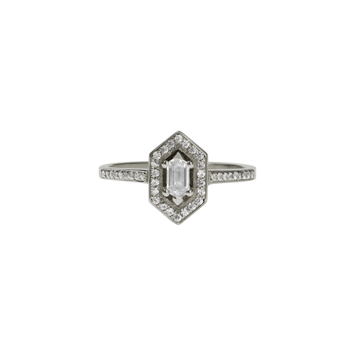 Sacred Engagement Ring | 18ct White Gold