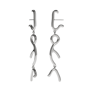 Sculpture Tiered Drop Earrings | Sterling Silver