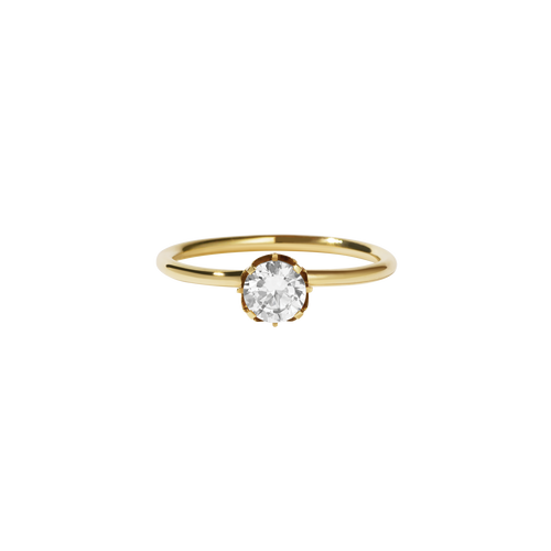 Signature Solitaire Ring | 18ct Yellow Gold