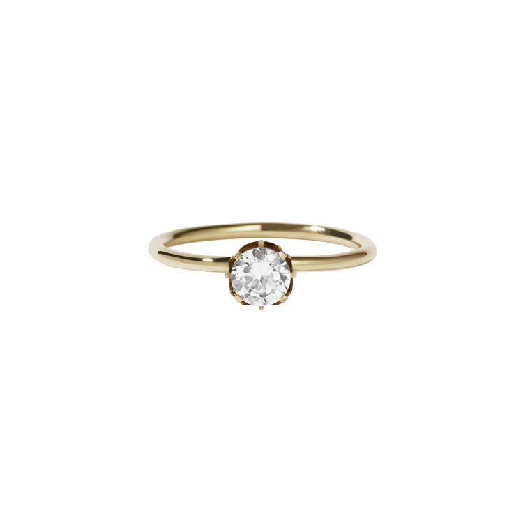 Signature Solitaire Ring | 9ct Yellow Gold