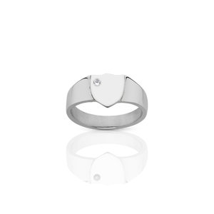 Signet Ring with Stone | Sterling Silver