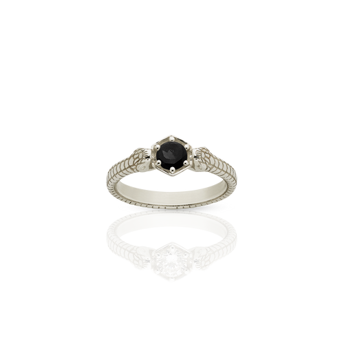 Snake Bite Ring | 9ct White Gold