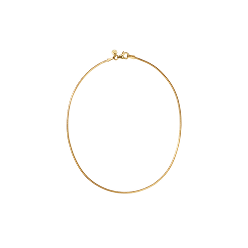 Snake Chain Anklet | 9ct Yellow Gold
