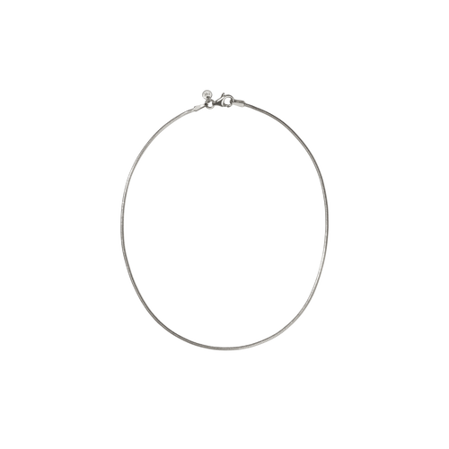 Snake Chain Anklet | Sterling Silver