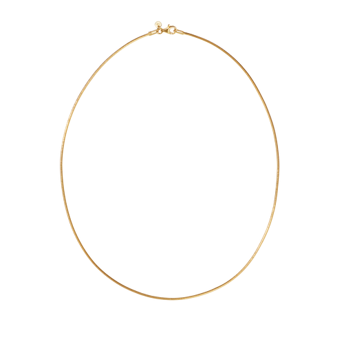 Snake Chain Necklace | Gold Plated