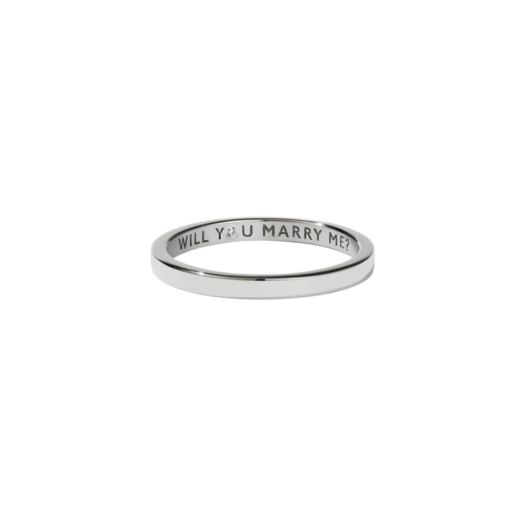 Stand In Ring with Stone | Sterling Silver