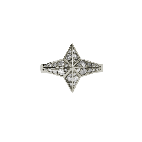 Star Ring Pave | 18ct White Gold