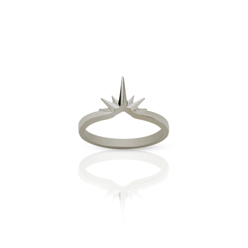 Starburst Band | 18ct White Gold