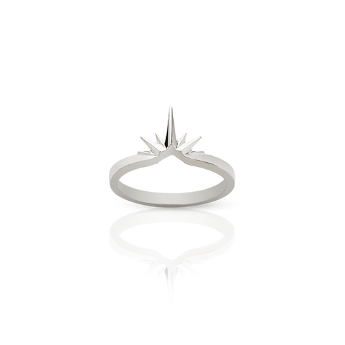 Starburst Band | Sterling Silver