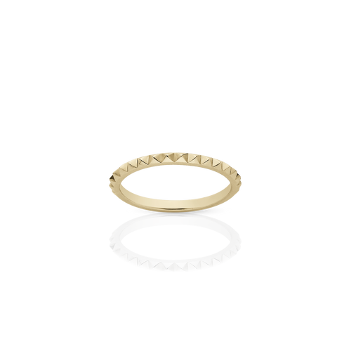 Studded Stacking Band | 9ct Yellow Gold
