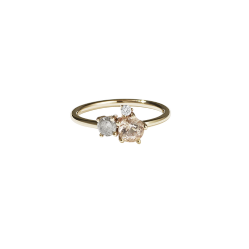Trio Ring | 9ct Yellow Gold