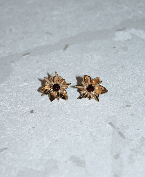 Wildflower Earrings Stone Set | Sterling Silver