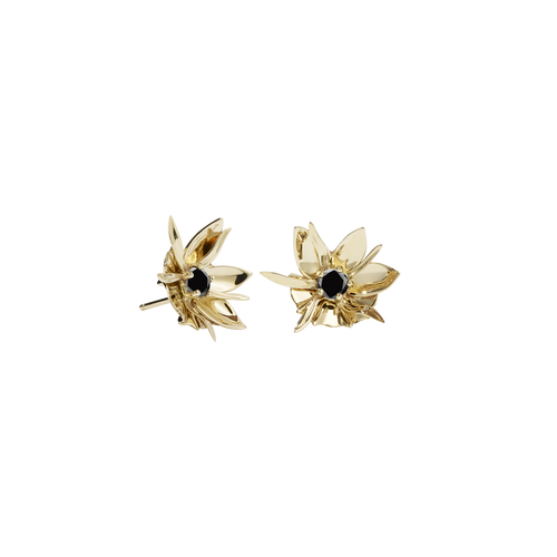 Wildflower Earrings Stone Set | 9ct Yellow Gold
