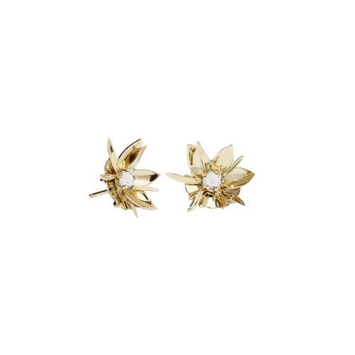 Wildflower Earrings Stone Set | Gold Plated