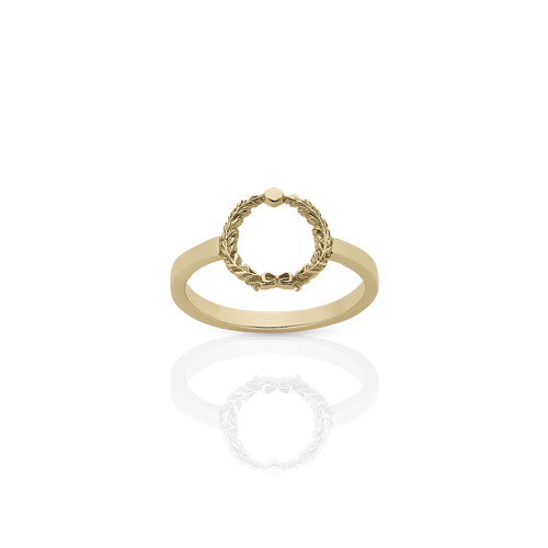 Wreath Stacker Ring | Gold Plated