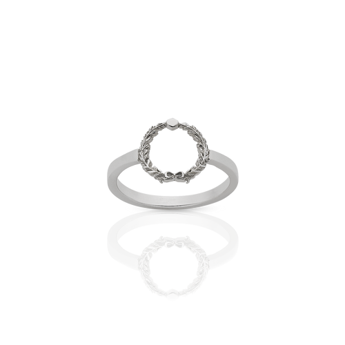 Wreath Stacker Ring | Sterling Silver