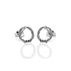 Wreath Stud Earrings | Sterling Silver