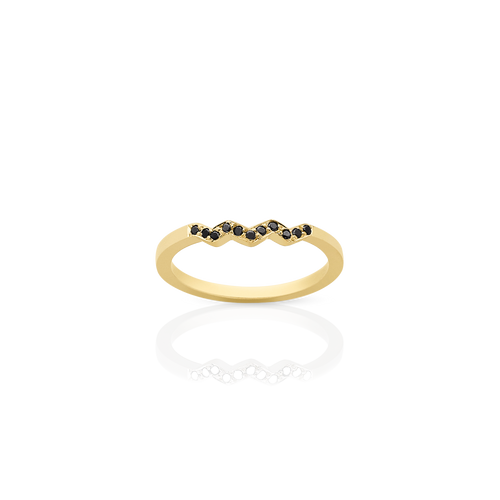 Zig Zag Band | 18ct Yellow Gold