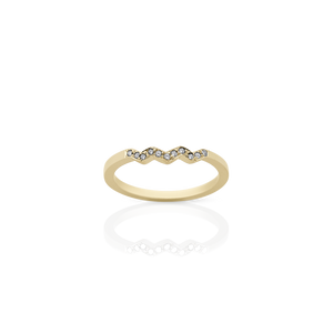 Zig Zag Band | 9ct Yellow Gold