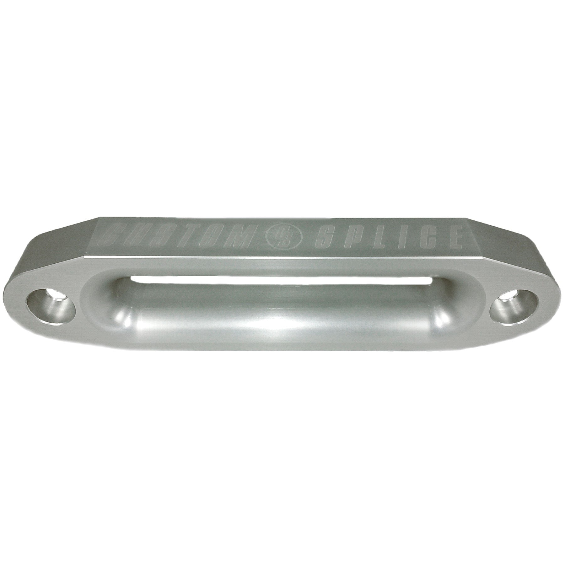"Silver 10"" Double Thick Hawse Fairlead with Large Inside Radii for Synthetic Winch Rope."