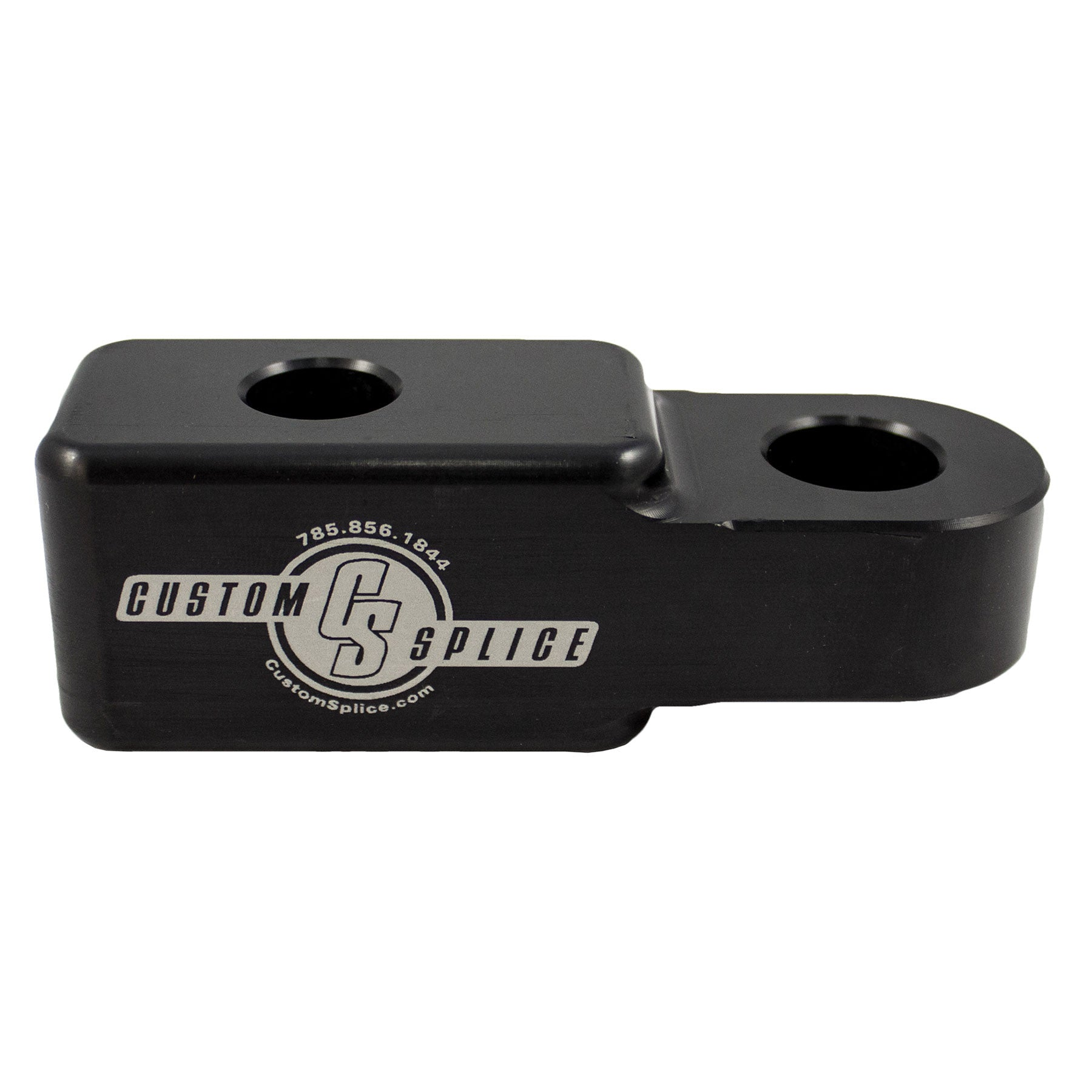 "Black 2"" Hitch Receiver Shackle Adapter - Side View."