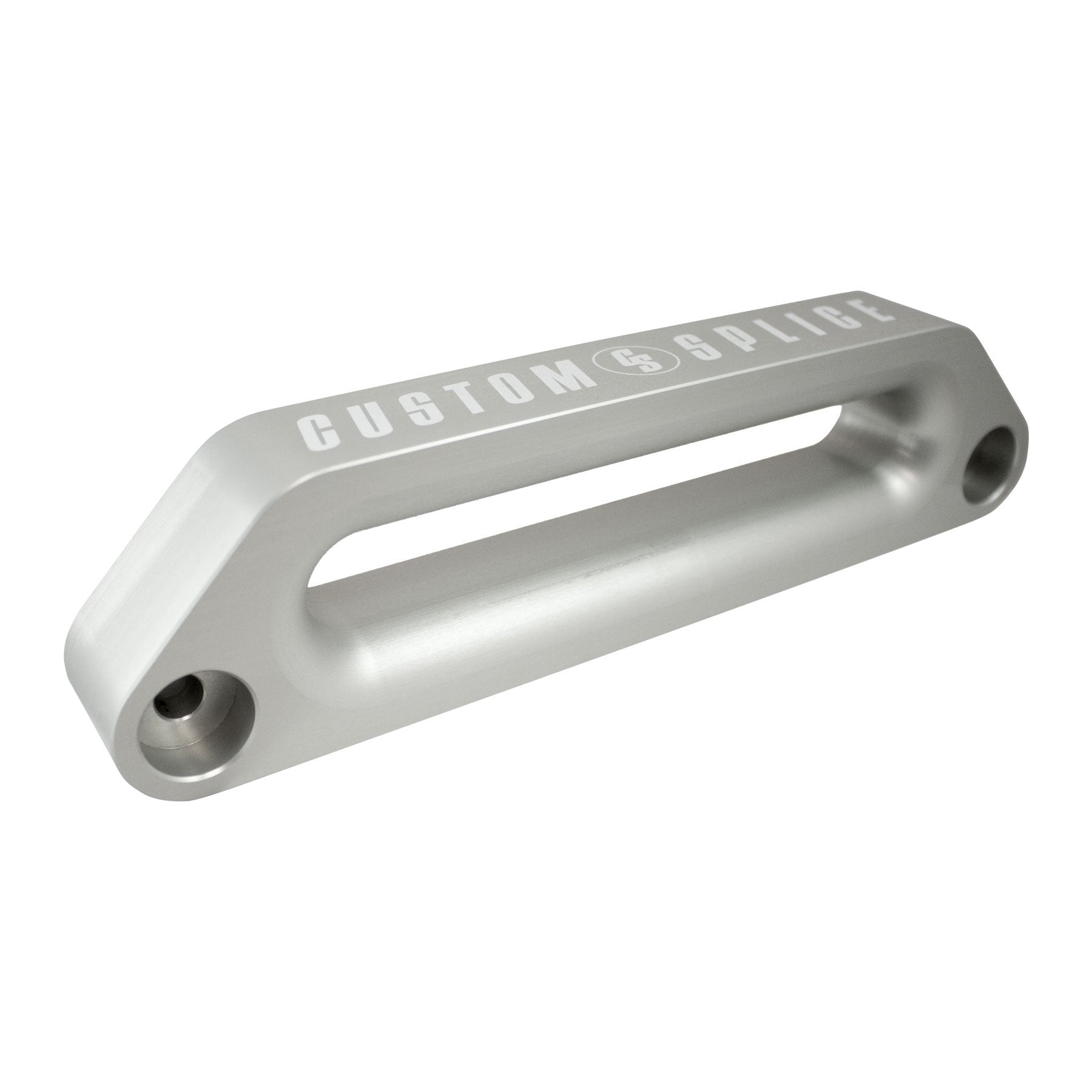 "Silver 10"" ARB Offset Hawse Fairlead - Angled for Scale and Profile."