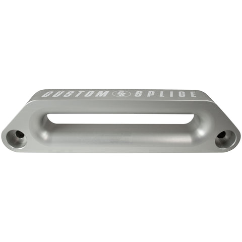 "Silver 10"" ARB Offset Hawse Fairlead - Front View."