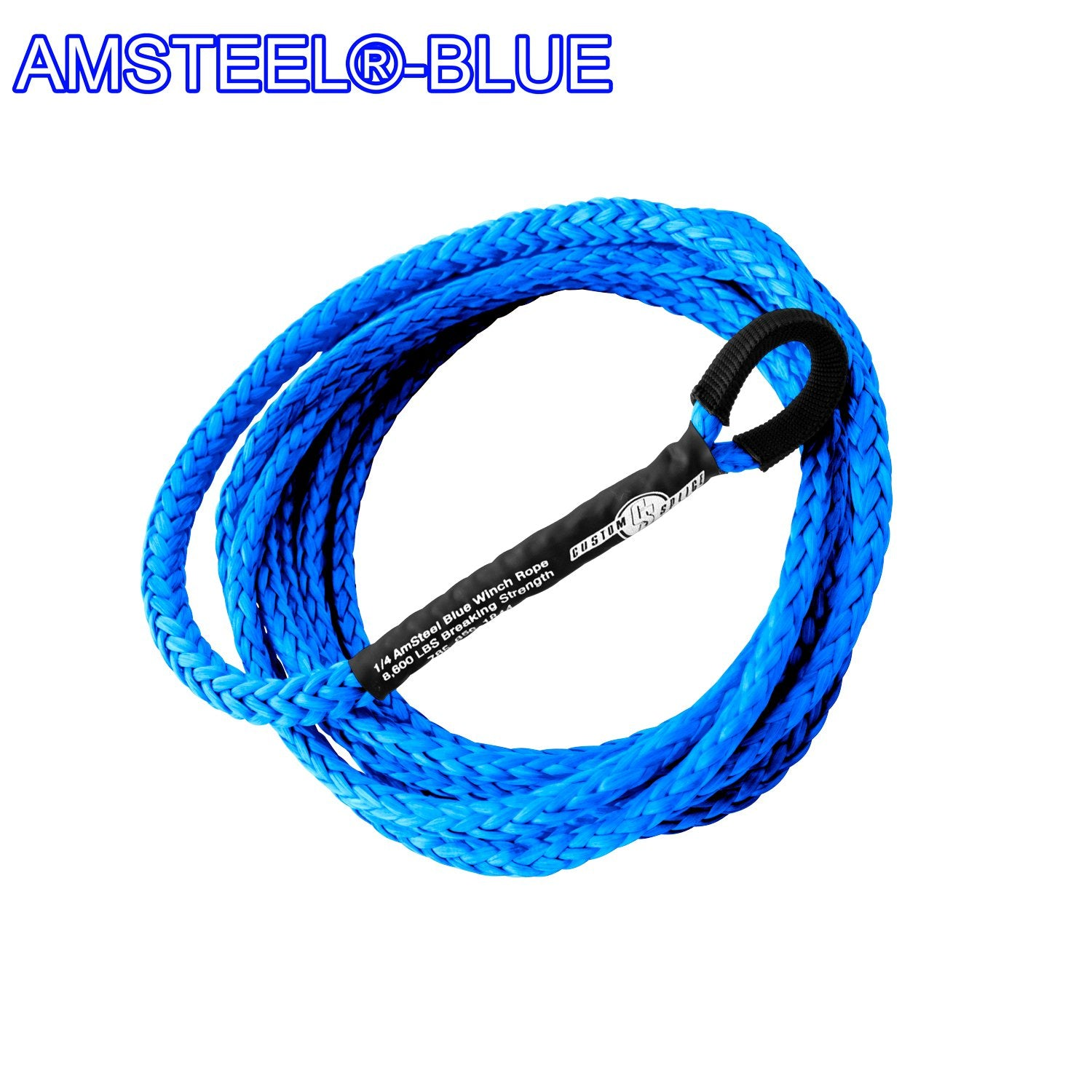 ATV UTV Snow Plow Lift Synthetic Winch Rope - AmSteel Blue