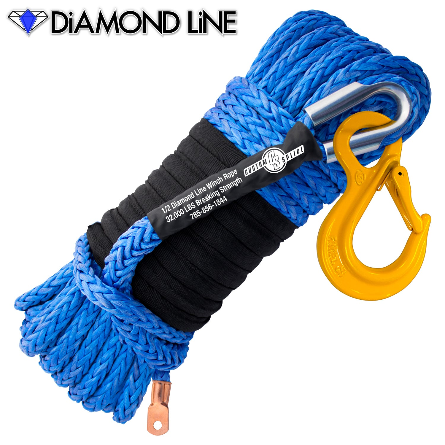 "1/2"" Main Line Winch Rope with Hook."