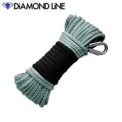 "3/16"" x 50' Diamond Line Winch Rope Mainline - Dark Pewter."