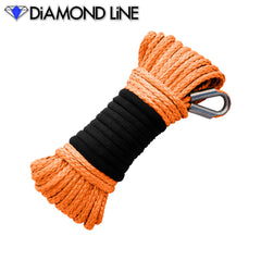 "3/16"" x 50' Diamond Line Winch Rope Mainline - Orange."