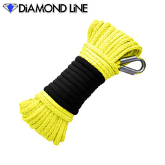 "3/16"" x 50' Diamond Line Winch Rope Mainline - Yellow."