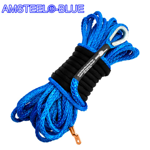 3/8 Main Line Winch Rope - AmSteel Blue