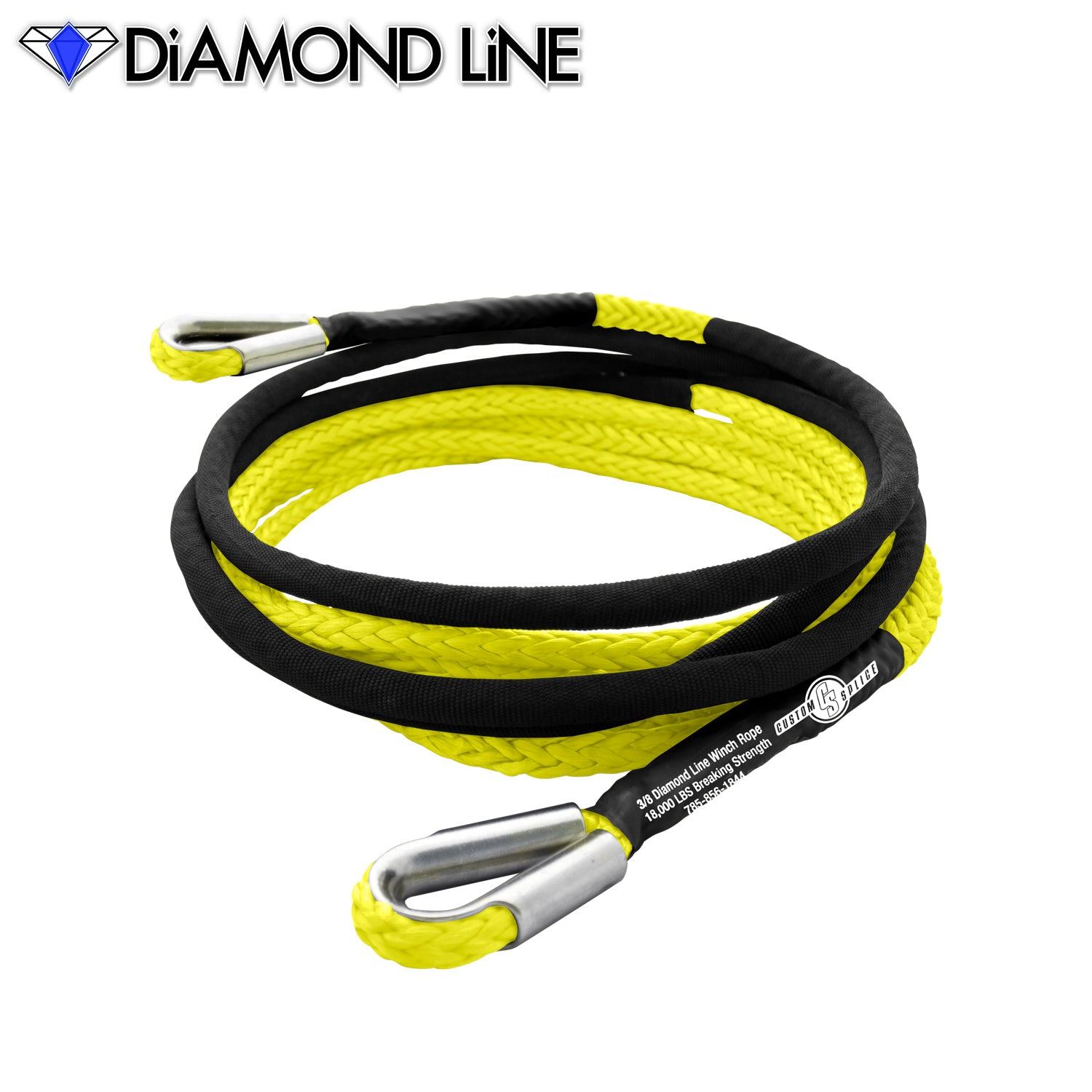 "3/8"" Extension - Diamond Line Winch Rope"