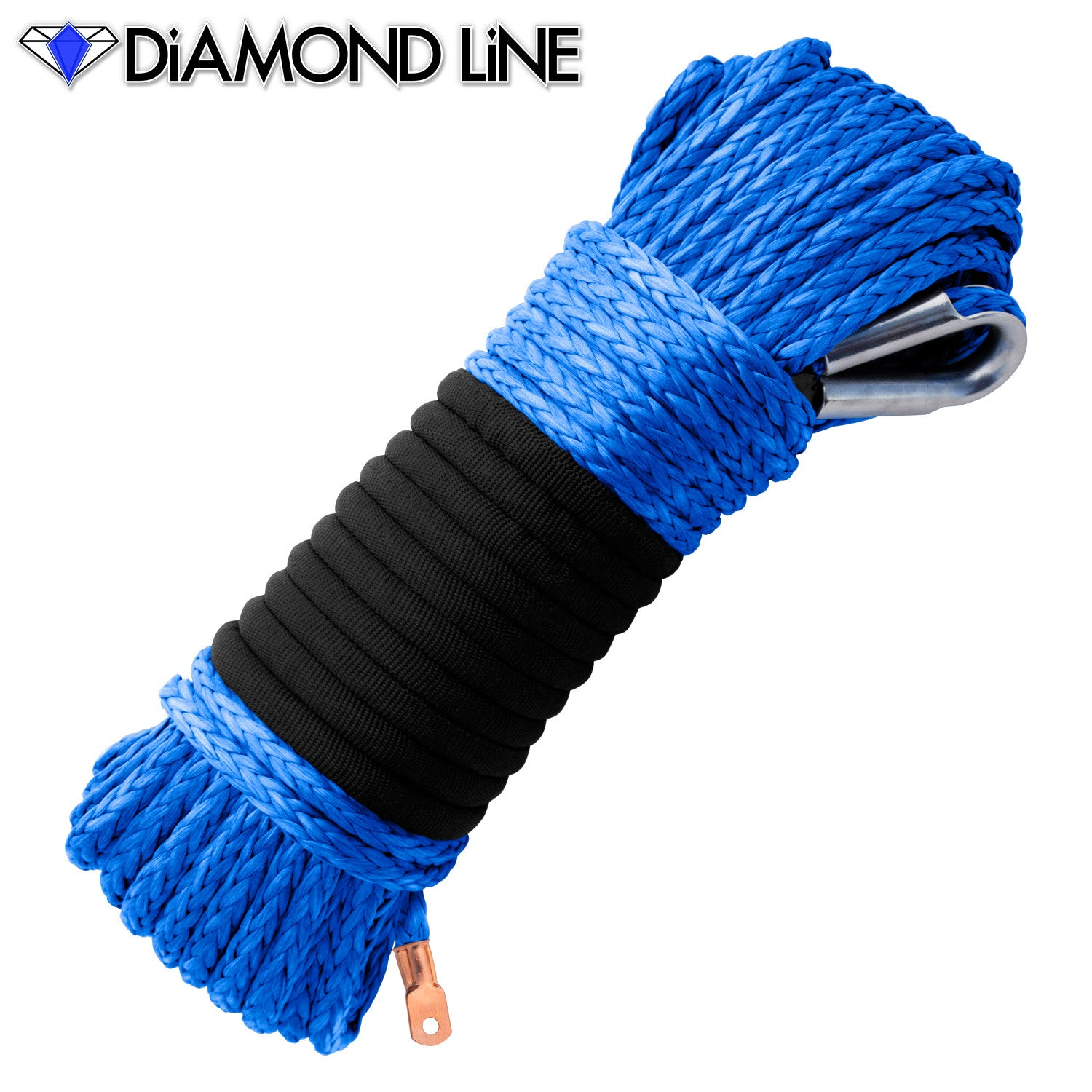 "5/16"" Diamond Line Winch Rope Mainline - Blue."