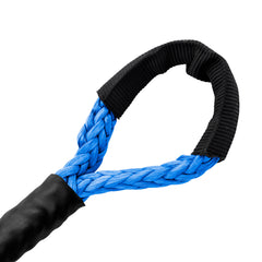"3/8"" Diamond Line Winch Rope Soft Eye - Blue."