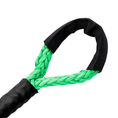 "3/16"" Diamond Line Winch Rope Soft Eye - Bright Green."