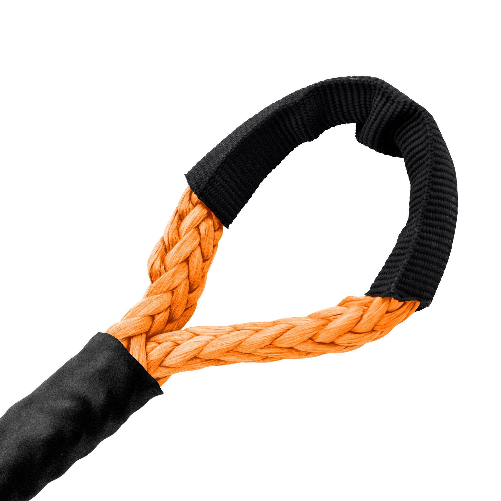 "5/16"" Diamond Line Winch Rope Mainline - Orange Soft Eye."
