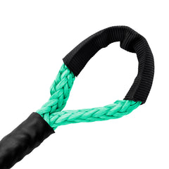 1/4 Diamond Synthetic Winch Rope Soft Eye - Teal Green.