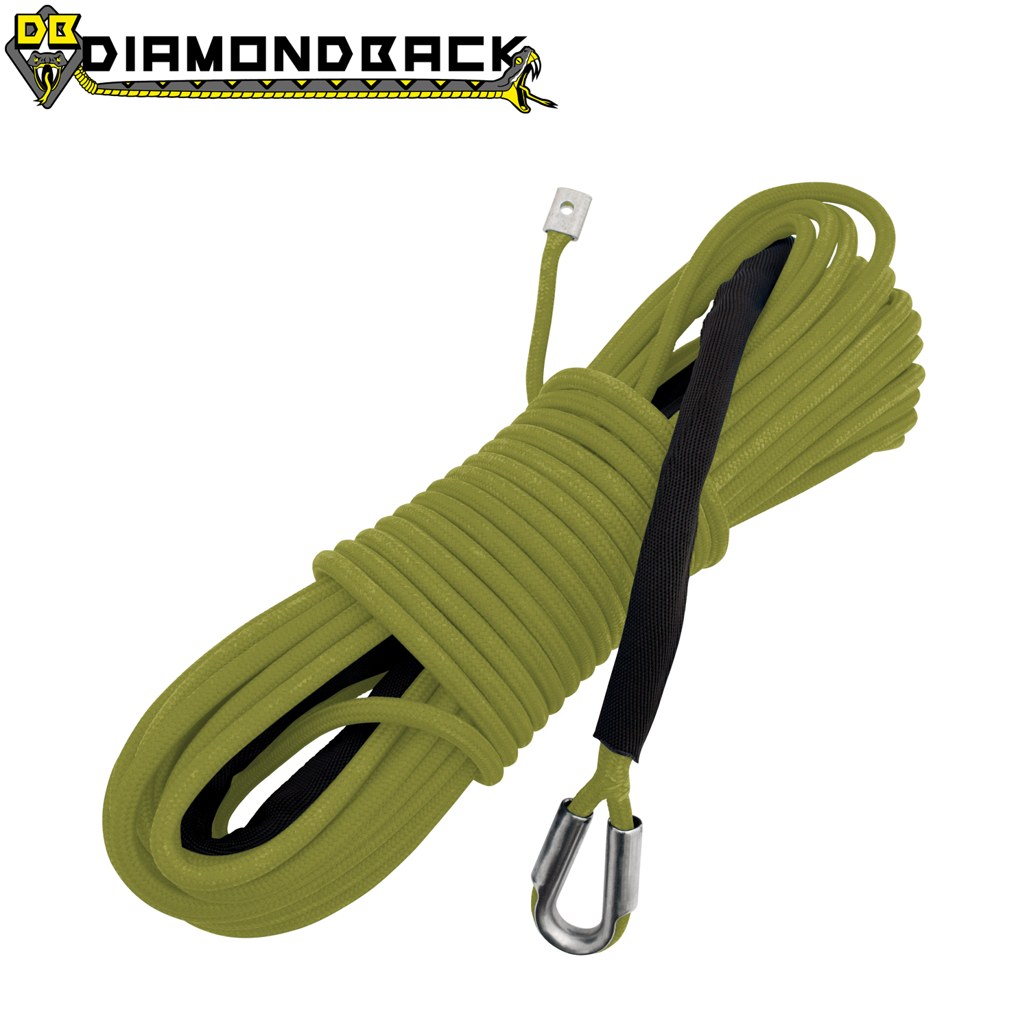 "1/4"" X 55' Diamondback Mainline Winch Rope"