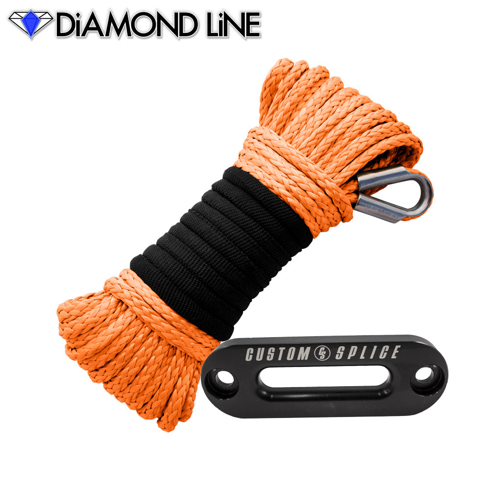 "ATV Diamond Line Rope / Fairlead Bundle 3/16"" X 50'"