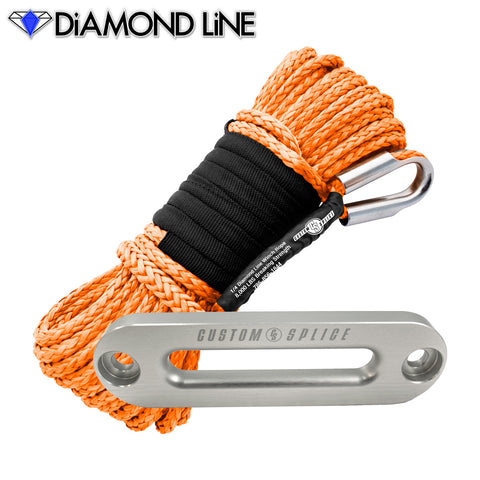 "SxS UTV Diamond Line Rope / Fairlead Bundle 1/4"" X 55"