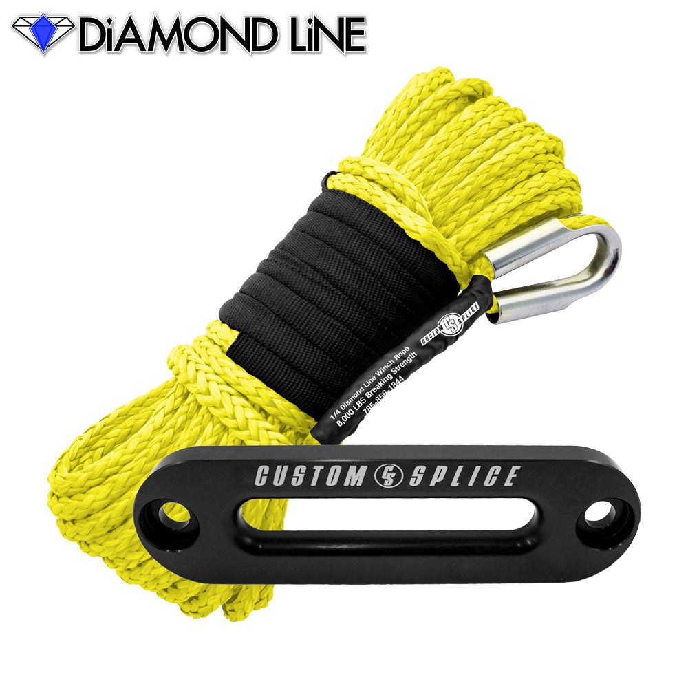 "SxS UTV Diamond Line Rope / Fairlead Bundle 1/4"" X 55'"