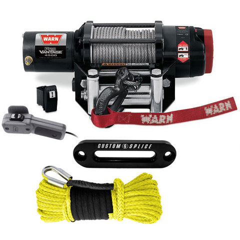 Warn ProVantage 4500 winches with Polaris Mount and Synthetic Upgrade