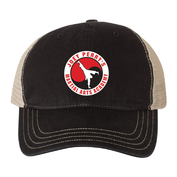 Garment Washed Trucker Cap - Embroidered - JPMAA 8209E